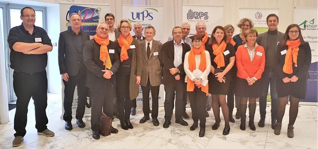 CIPSL et équipe du colloque sur la souffrance au travail en libéral à Lyon le 23/11/2018